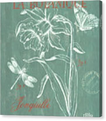 La Botanique Aqua Canvas Print by Debbie DeWitt
