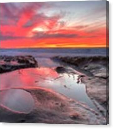La Jolla Tidepools At Sunset Canvas Print by Nathan Rupert