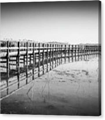 Lake Walkway Canvas Print by Gary Gillette