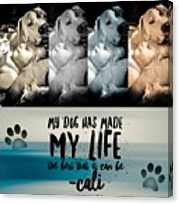 Life With My Dog Canvas Print by Kathy Tarochione