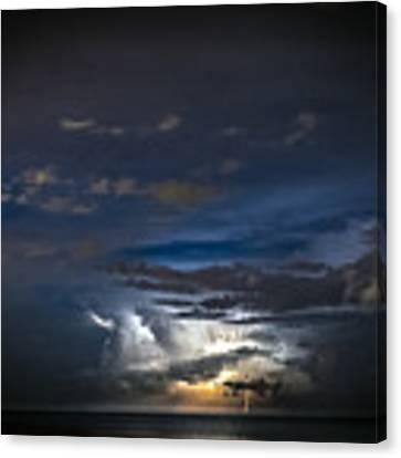Lightning's Water Dance Canvas Print by Steven Santamour