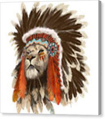 Lion Chief Canvas Print by Sassan Filsoof
