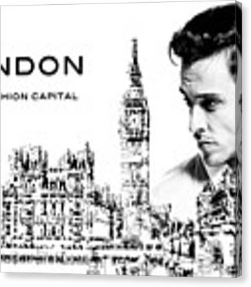 London The Fashion Capital Canvas Print by ISAW Company