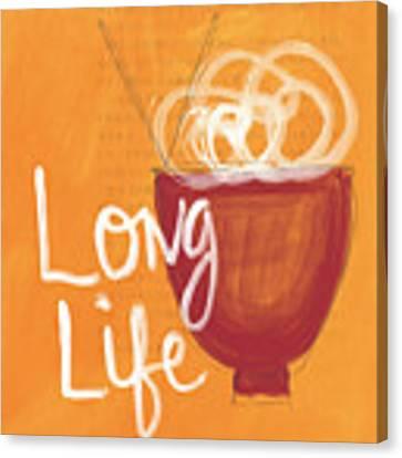Long Life Noodle Bowl Canvas Print