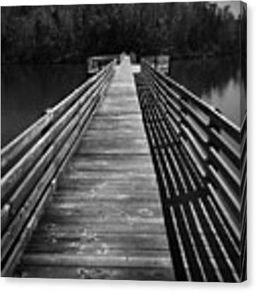 Long Wooden Bridge Canvas Print by Kelly Hazel