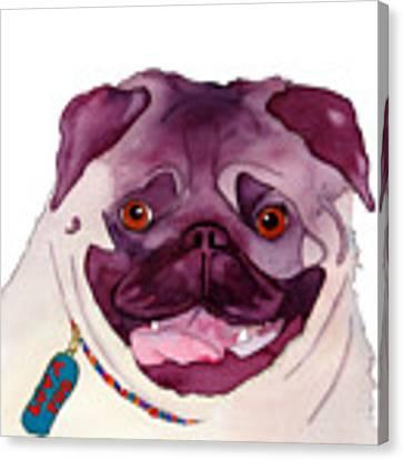 Love A Pug Canvas Print by Jo Lynch