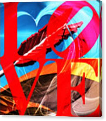 Love Swirls At The San Francisco Cupids Span Sculpture Dsc1819 Canvas Print by Wingsdomain Art and Photography