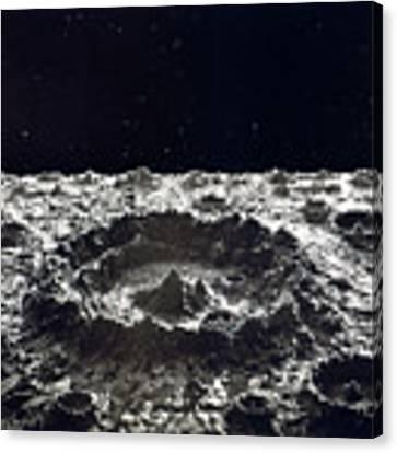 Lunar Crater, 1874.  Canvas Print by Granger