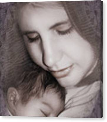 Madonna And Child 3 Canvas Print by Kate Word