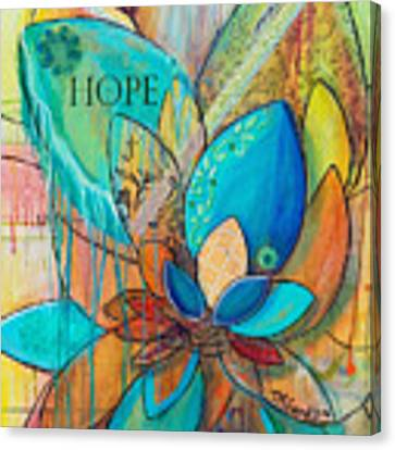 Spirit Lotus With Hope Canvas Print by TM Gand