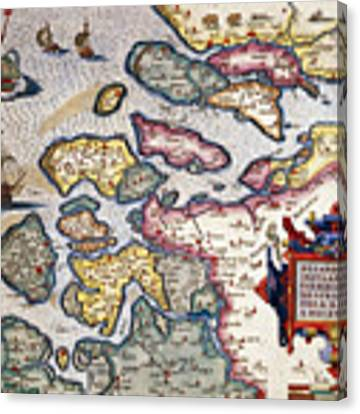 Map Of Zeeland Canvas Print