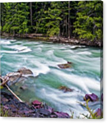 Mcdonald Creek Canvas Print by Gary Lengyel