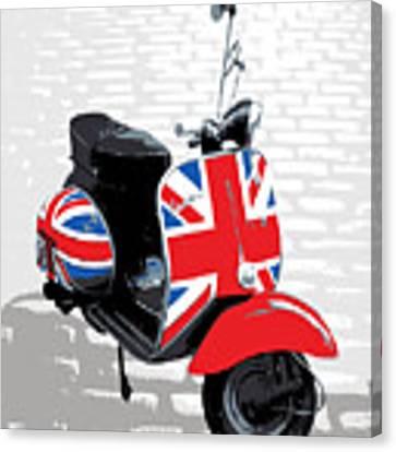 Mod Scooter Pop Art Canvas Print by Michael Tompsett