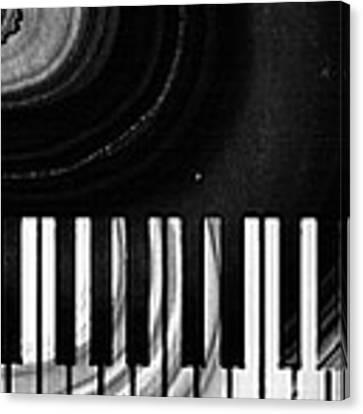 Modern Black And White Piano - Sharon Cummings Canvas Print by Sharon Cummings