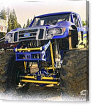 Monster Truck At The Fair Canvas Print by William Havle