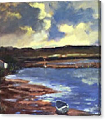 Moonlit Beach Canvas Print by Genevieve Brown