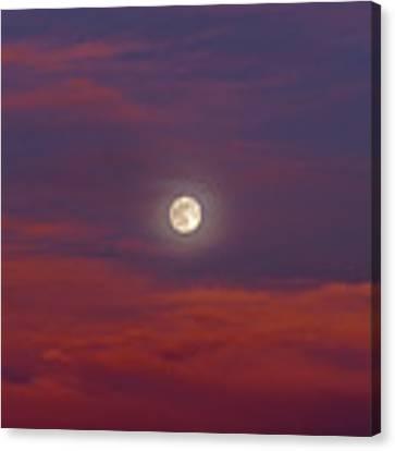Moonrise, Sunset Canvas Print by Jason Coward