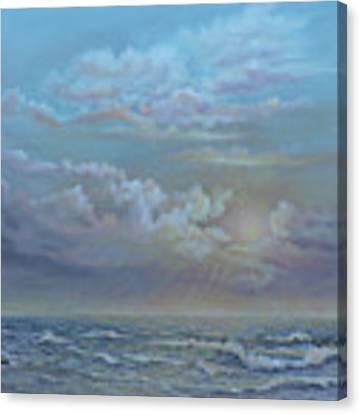 Morning At The Ocean Canvas Print by Katalin Luczay
