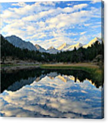 Morning Glory In The Land Of Little Lakes Canvas Print by Sean Sarsfield
