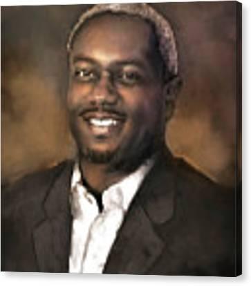 Mr. Dedrick J. Sims Canvas Print by Dwayne Glapion