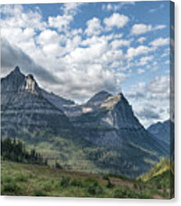 Mt. Oberlin From Logan Pass Canvas Print by Jemmy Archer