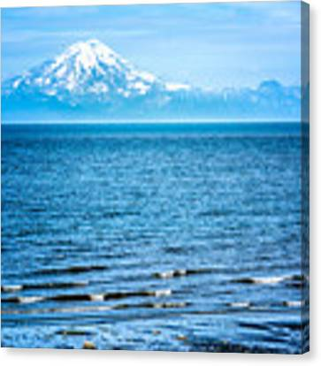 Mt. Redoubt Cooke Inlet Canvas Print by Claudia Abbott
