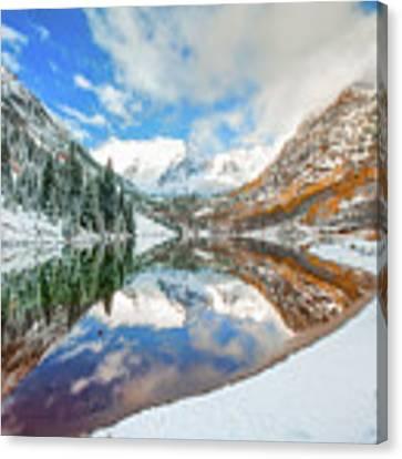 Natures Divine Canvas - Maroon Bells Aspen Colorado Canvas Print by Gregory Ballos