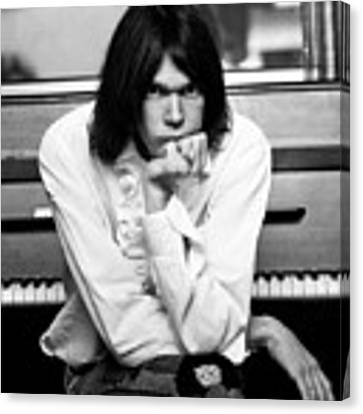 Neil Young 1970 Canvas Print by Chris Walter