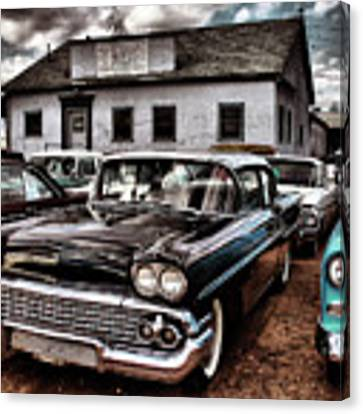Nothing Buy Skies And Chevy's 2 Canvas Print by John De Bord