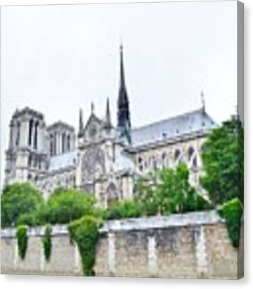 Notre Dame Cathedral Side View Canvas Print by Kim Bemis
