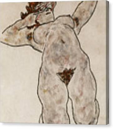Nude Lying Down Canvas Print