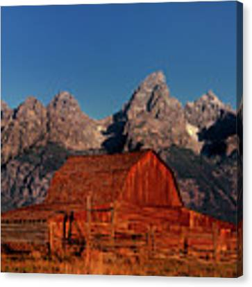 Old Barn Grand Tetons National Park Wyoming Canvas Print by Dave Welling