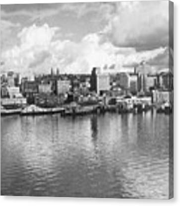 Old Seattle 1949 Canvas Print by USACE-Public Domain