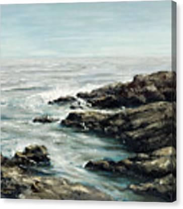 Original Fine Art Painting Bass Rocks Massachusetts Canvas Print by G Linsenmayer