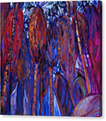 Palm Oasis Canvas Print by Erin Hanson