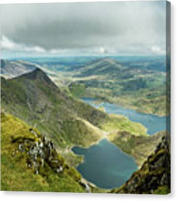 Pano Snowdonia Canvas Print by Nick Bywater