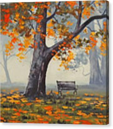 Park Bech Canvas Print by Graham Gercken