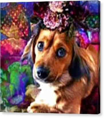 Party Animal Canvas Print by Delight Worthyn