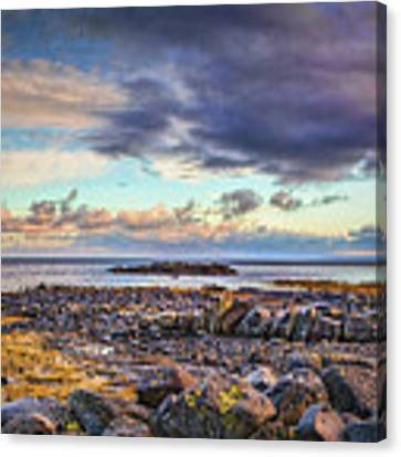 Pebbles And Sky  #h4 Canvas Print by Leif Sohlman