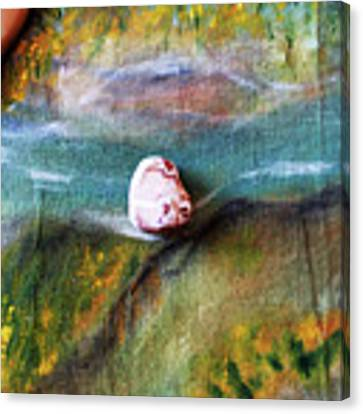 Pebbles At  The Stream Canvas Print by Augusta Stylianou