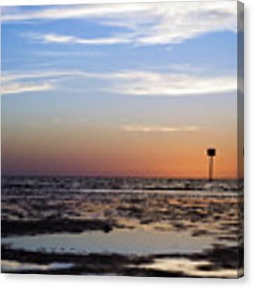 Pine Island Sunset Canvas Print by Beverly Stapleton