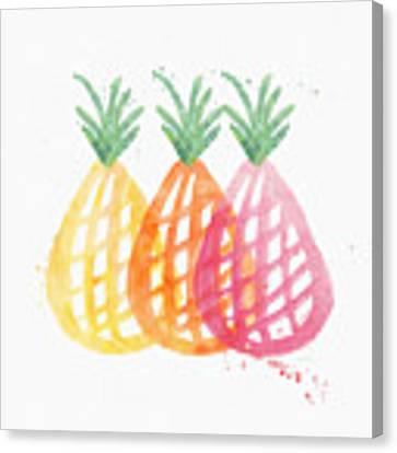Pineapple Trio Canvas Print