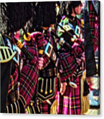 Pipers Three Canvas Print by Samuel M Purvis III