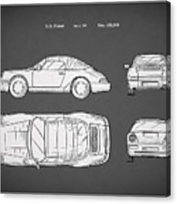 Porsche 911 Cabriolet Patent Canvas Print