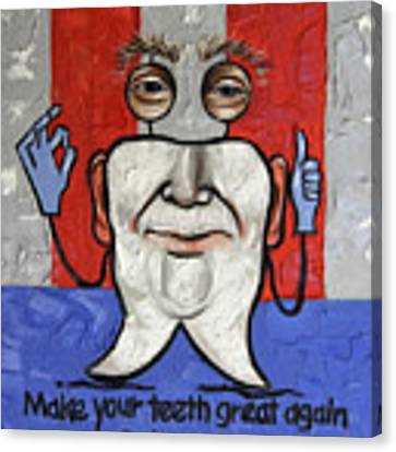 Presidential Tooth 2 Canvas Print by Anthony Falbo