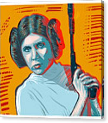 Princess Leia Canvas Print by Antonio Romero