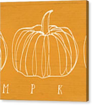 Pumpkins- Art By Linda Woods Canvas Print by Linda Woods