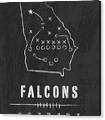Atlanta Falcons Art - Nfl Football Wall Print Canvas Print