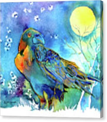 Raven Night Spirit Canvas Print by Jo Lynch
