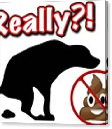 Really No Poop Canvas Print by Kathy Tarochione